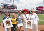 Ohio Federation Celebrates Women's Suffrage Anniversary at Cincinnati Reds Game