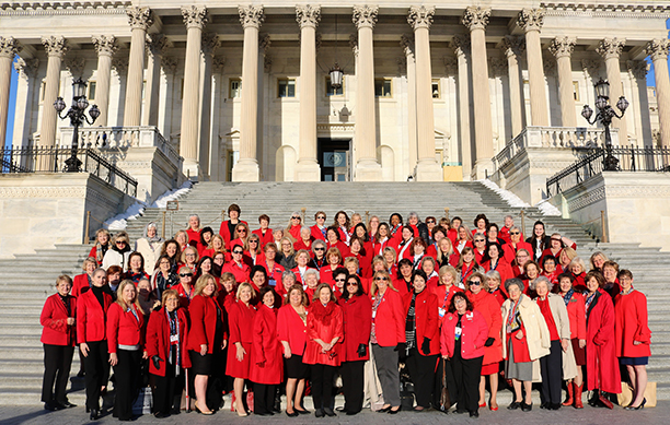 The official photo of NFRW Legislative Day at the U.S. Capitol, 2018.