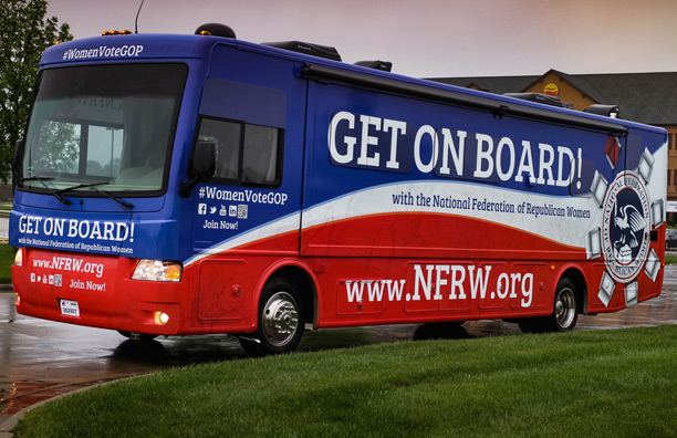 Rosie, the NFRW's 2016 campaign tour bus