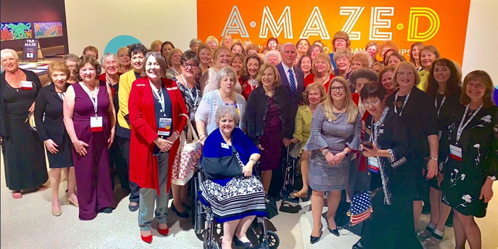 Vice President Mike Pence Makes Surprise Stop at NFRW Regents Event