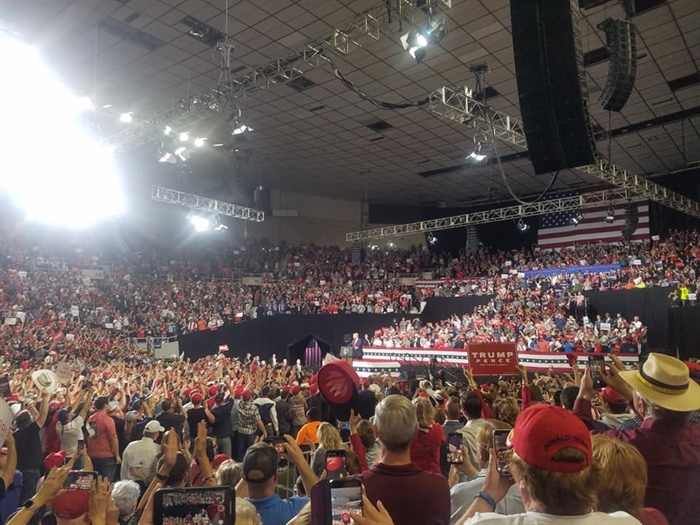 Arizona Federation Members in Force at President Trump's Rally