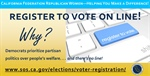 California Federation Announces Online Voter Registration Media Campaign, Letter Writing Campaign