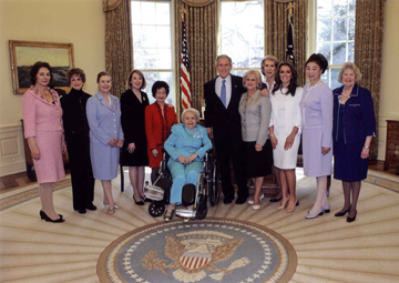 NFRW Capitol Regents with President George W. Bush in the Oval Office
