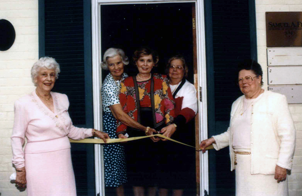 Headquarters ribbon cutting, early 1990s